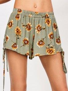 String Floral Shorts - Floral