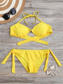 Tie Back Padded Bathing Suit