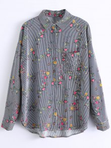 Stripes Floral Shirt