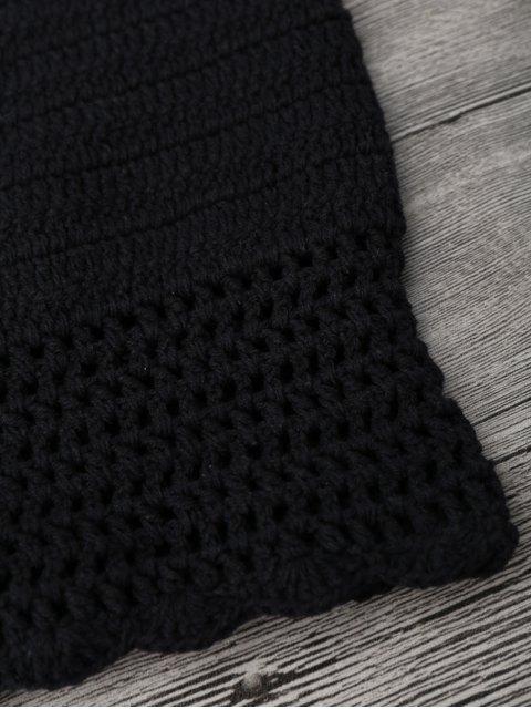 buy Off Shoulder High Waisted Crochet Bikini - BLACK M Mobile