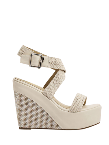 Weaving Cross-Strap Wedge Heel Sandals