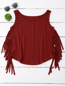 Side Fringed Tank Top