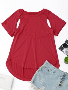 Cut Out High Low T-Shirt