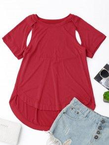 T-shirt Coupe Haute - Rouge L