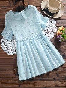 Floral Smock Peter Pan Collar Dress