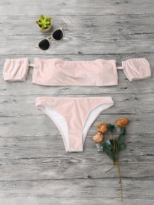 Velvet Off The Shoulder Bikini Swimwear