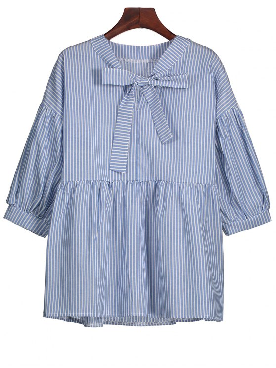 outfits Striped Bow Tie Blouse - STRIPE S