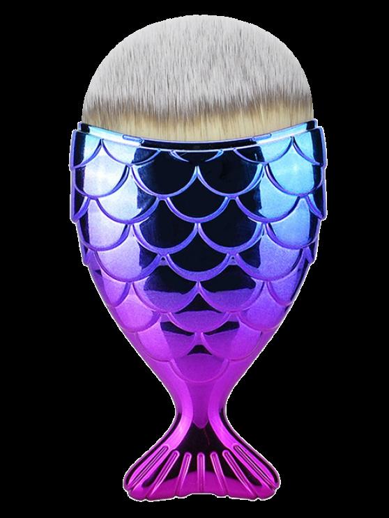 women's Fiber Wide Beauty Mermaid Foundation Brush - PURPLE
