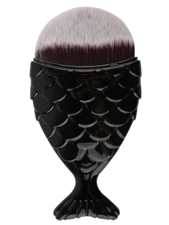 new Mermaid Tail Shape Makeup Foundation Brush - BLACK