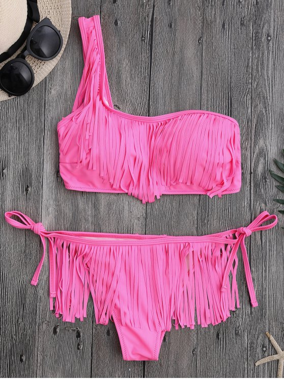 Fringe - Un traje de baño con cordones de hombros - Rosa M