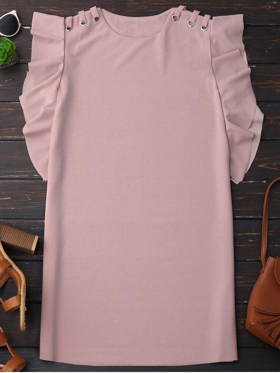 outfits Sleeveless Ruffle Dress - PINK L