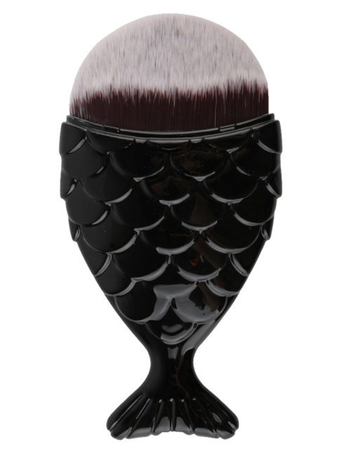 new Mermaid Tail Shape Makeup Foundation Brush - BLACK  Mobile