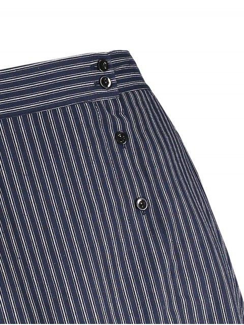 sale Striped Ruffle Mermaid Skirt - STRIPE ONE SIZE Mobile