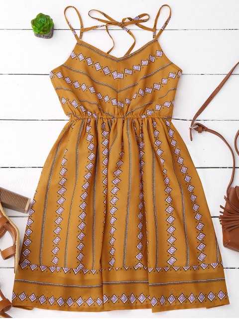 women's Argyle Print Slip Fit and Flare Dress - EARTHY S Mobile