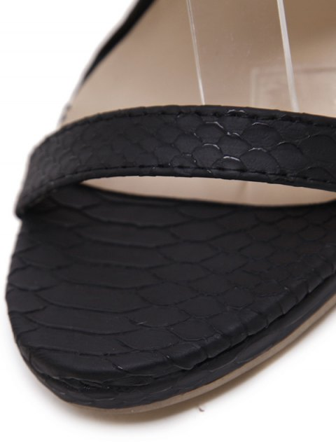 affordable Chains Lace Up Tassels Sandals - BLACK 37 Mobile