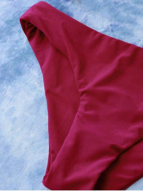 womens Lace Up Bikini Swimwear - RED M Mobile