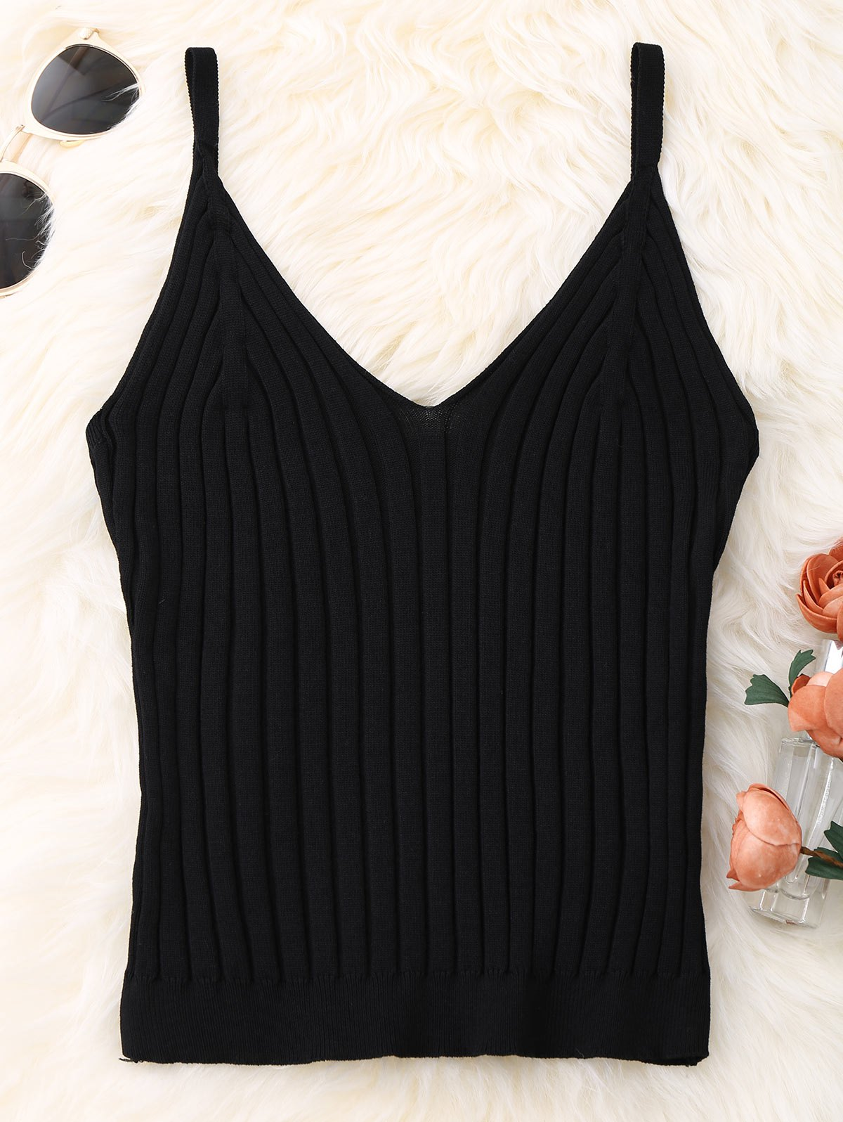 Knitted Ribbed Tank Top 212142202