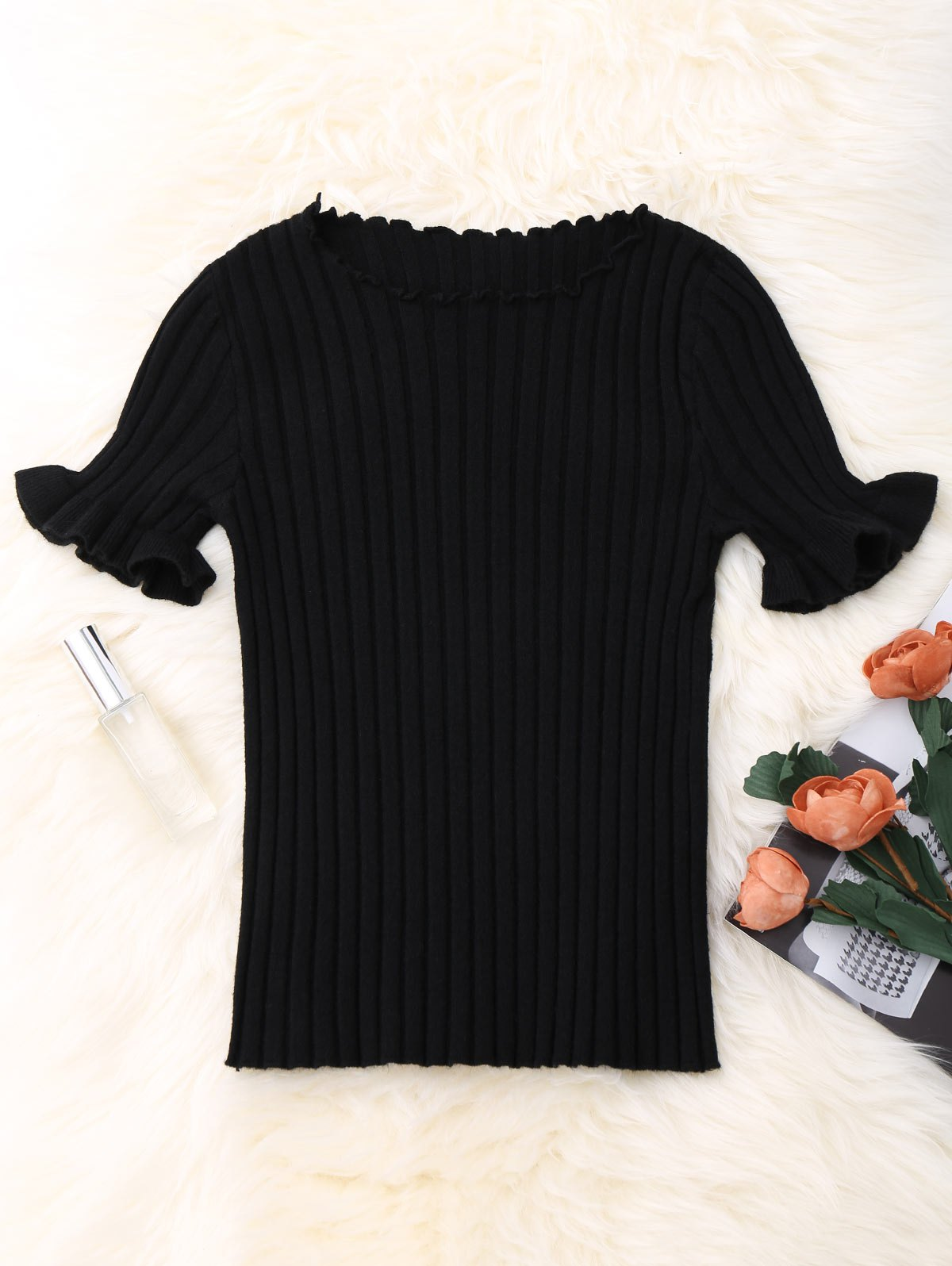 Knitted Ribbed Top 212142701