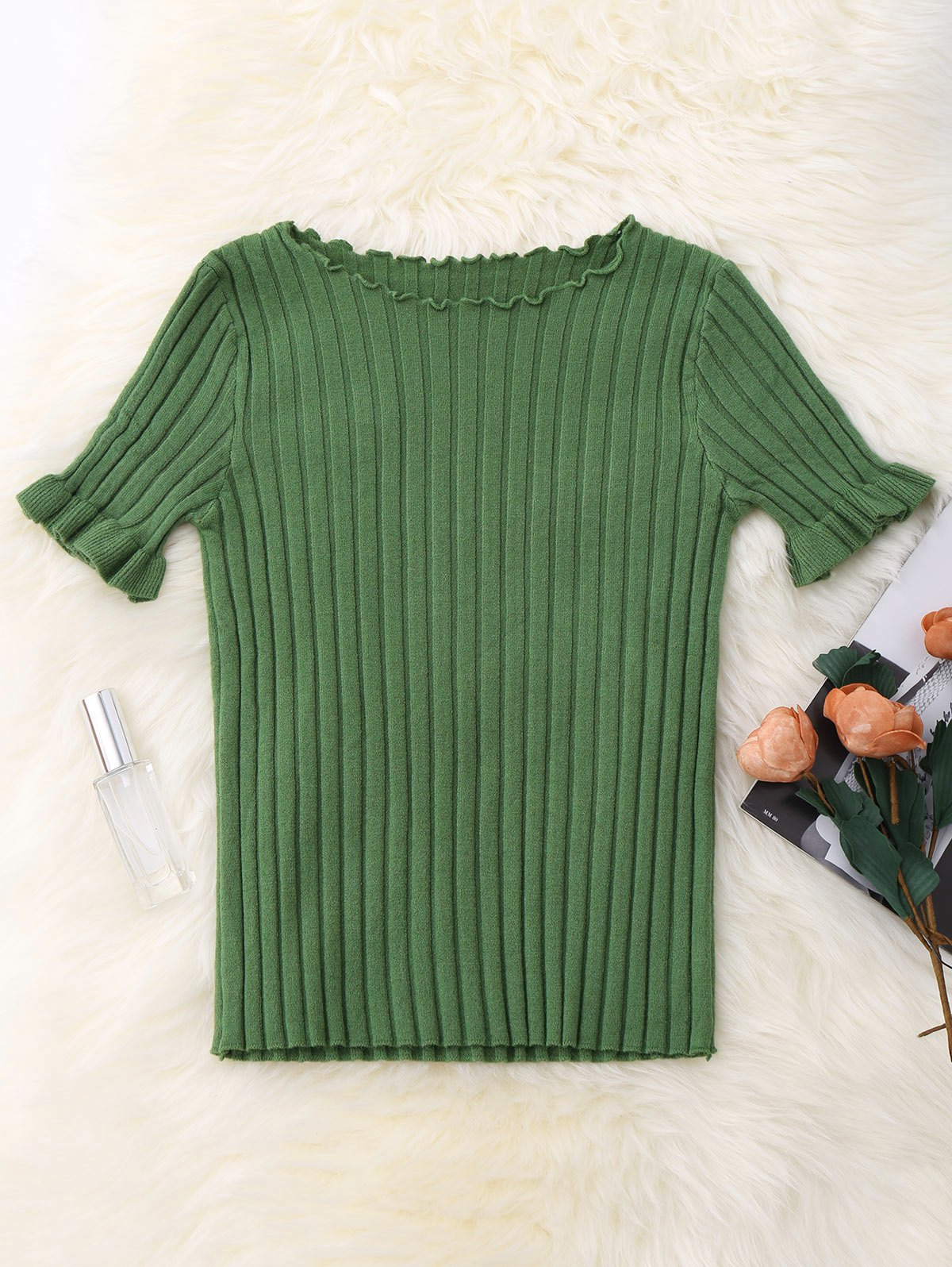 Knitted Ribbed Top 212142703