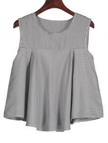 Stripes Ruffles Tank Top