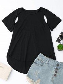 T-shirt Coupe Haute - Noir M