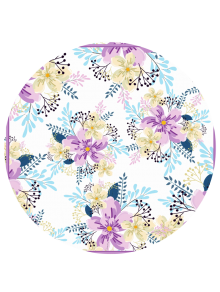 Sandless Floral Print Beach Throw