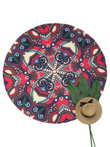 Sandless Round Beach Throw - Multicolor
