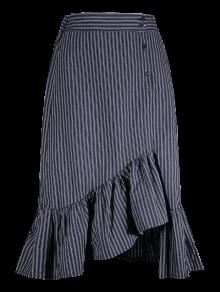 Striped Ruffle Mermaid Skirt - Stripe