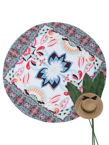 Round Mandala Beach Throw - Multicouleur