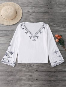 Linen Embroidered Blouse
