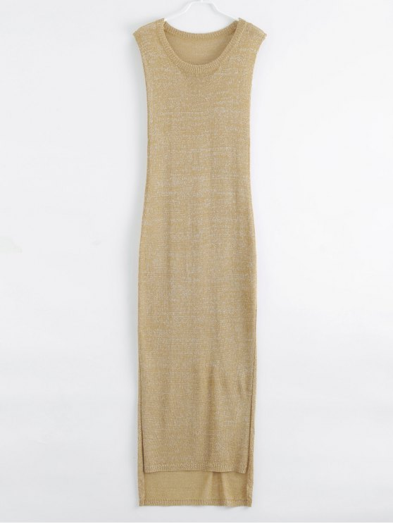 Robe maxi antisolaire en crochet pour la plage et l'été - Or XL