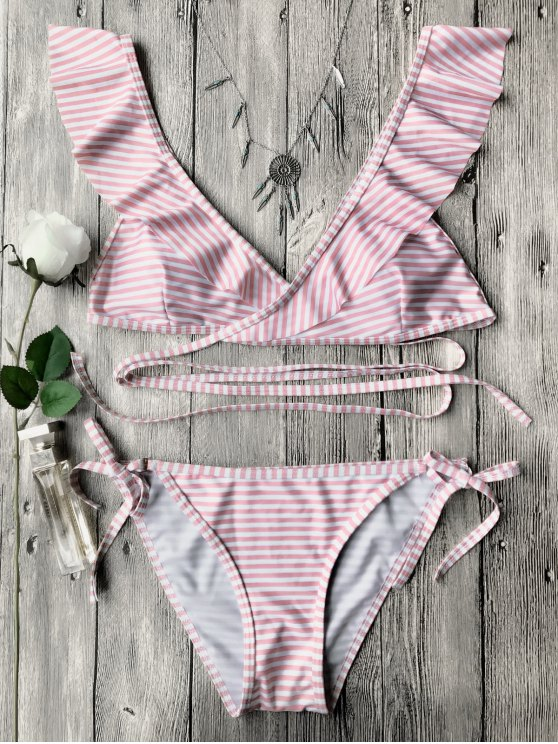 Conjunto de bikini de cuerda - Rosa L