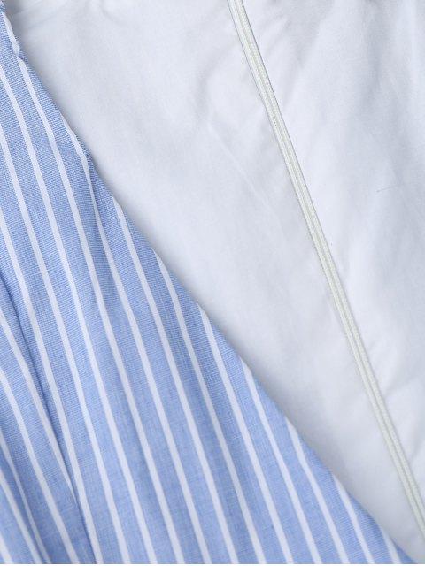 Plinthe à rayures avec bordure avec ceinture - Bleu L Mobile
