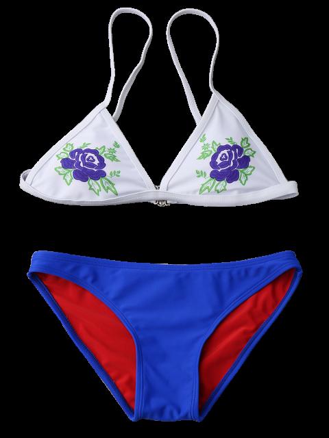 Ensemble de bikini à bas prix Cami Plunge - Bleu S Mobile