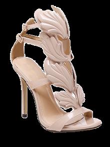 Mini Heel Double Buckle Strap Sandals
