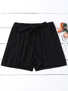 Pleated Skirted Wide Leg Shorts