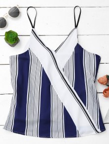 Spaghetti Strap Tank Top With Stripe