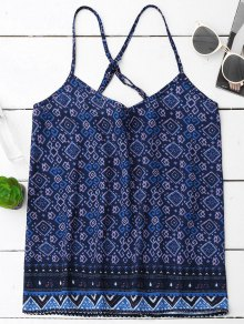 Tribal Print V Neck Chiffon Tank Top