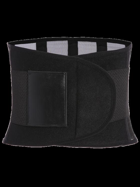Hook and Loop Waist Trainer Corset - BLACK 2XL Mobile