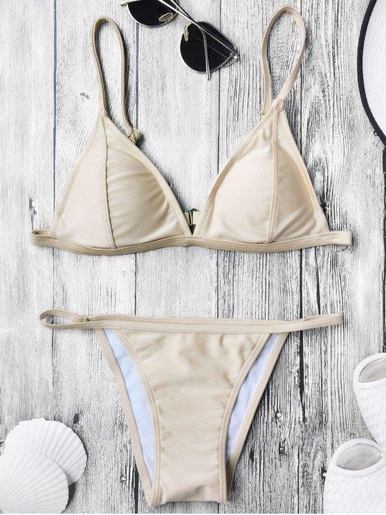 Bikini à lanières spaghetti rembourrées - Teint S