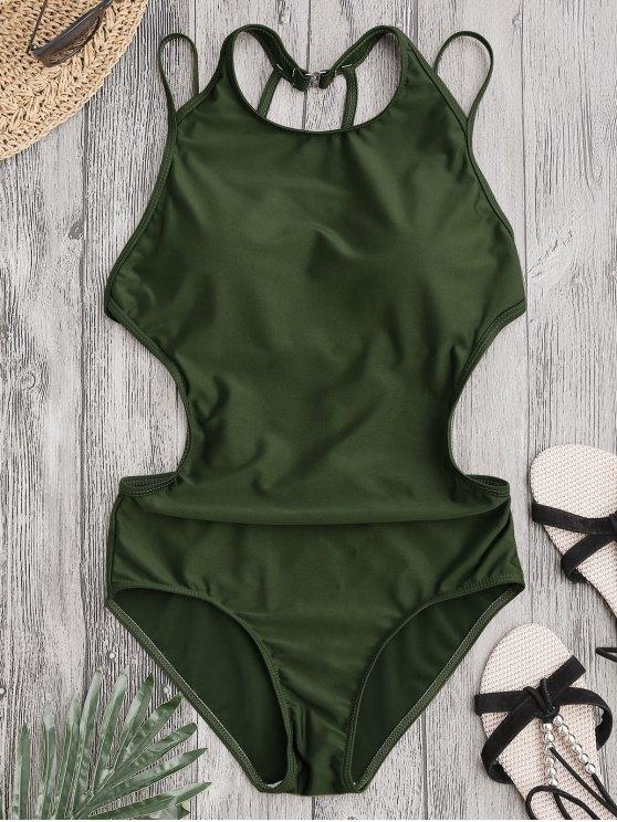 Traje de baño Strappy acolchado - Verde del ejército L