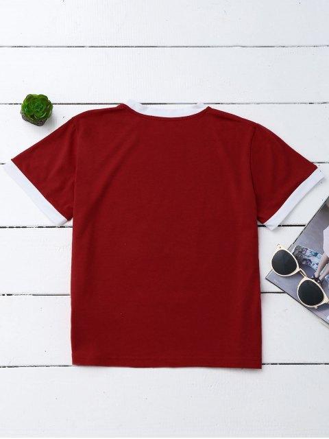 T-shirt à motifs ronds - Rouge L Mobile