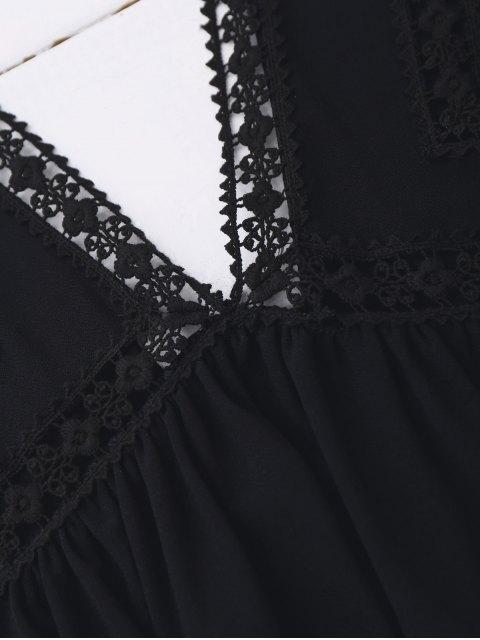 Ruffles Débardeur à lacets - Noir S Mobile