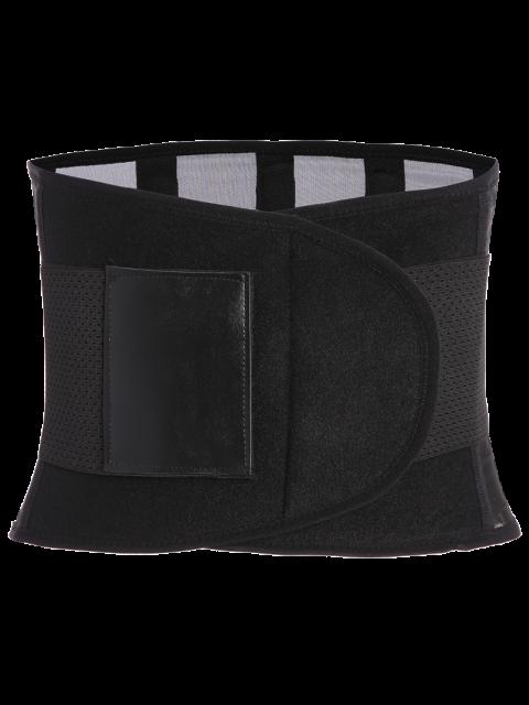 fancy Hook and Loop Waist Trainer Corset - BLACK L Mobile