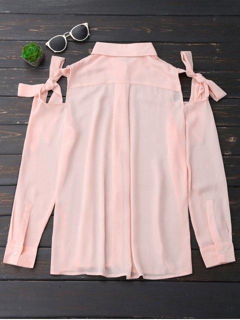 Blouson en mousseline d'épaule fantaisie - Rose Abricot L Mobile