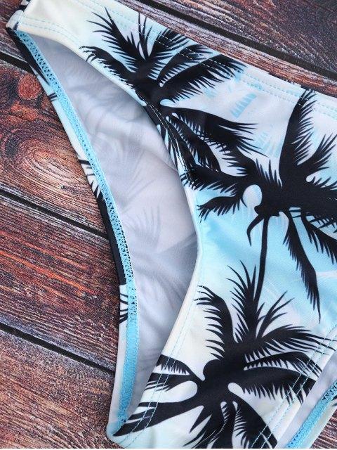 Ensemble de bikini à imprimé de palmier à col haut - Multicouleur S Mobile