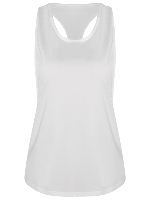 outfits Dropped Armhole Tank Top - WHITE M Mobile