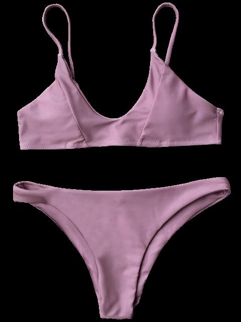 Cami Ensemble Bikini Rembourré - Pourpre Rosé S Mobile