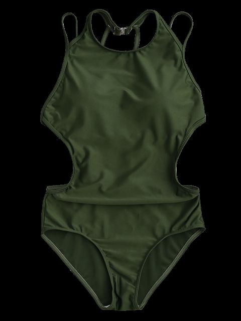 Maillots de bain à lèvres confortables rembourrés - Vert Armée S Mobile