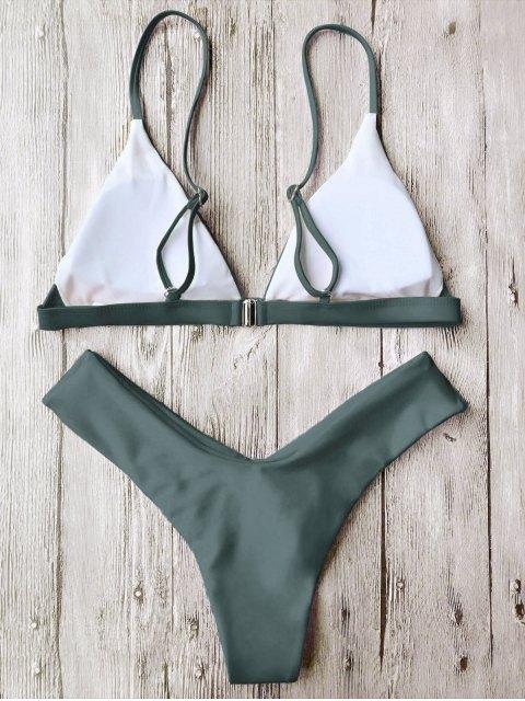Bikinis bretelles Spaghetti col V - Vert S Mobile
